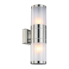 Xeloo Silver Metal Bar Outdoor Wall Light