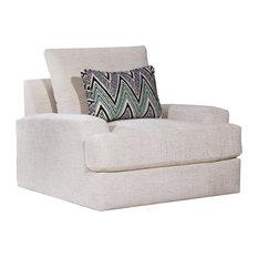 Celine Parchment Swivel Chair