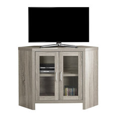 "Monarch 42"" Corner TV Stand in Dark Taupe"