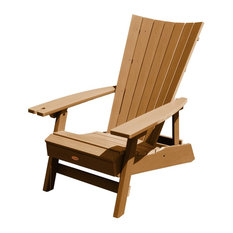 Manhattan Beach Adirondack Chair With Wine Glass Holder, Toffee