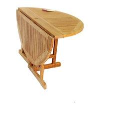 "47"" Round Barcelona Drop Leaf Table, Grade A Teak"