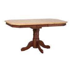 Sunset Trading Extendable Dining Table | Nutmeg Light Oak Top