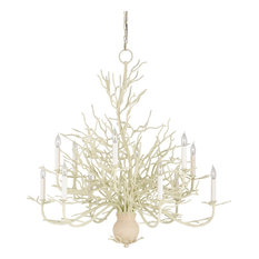 Coral chandeliers houzz currey company inc seaward chandelier large white coral natural aloadofball Gallery