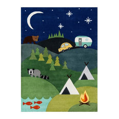 Lil Mo Whimsy Blue Rug, 8'x10'