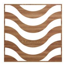 Large Parker Decorative Fretwork Wood Wall Panels, Walnut