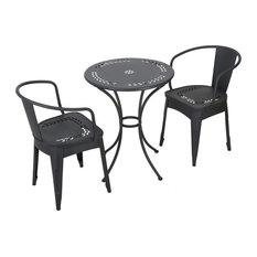 GDF Studio Ansel Childrens Black Table Chat Set