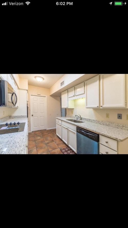 Galley Kitchen With No Window