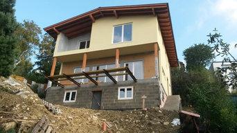Haus aus Strohbauplatten