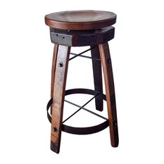Amish Barrel Stave Swivel Stool Amish Furniture Quarter Sawn White Oak Hardwood