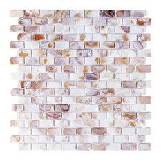 Mother of Pearl Oyster Herringbone Shell Mosaic Tile, Single Tile