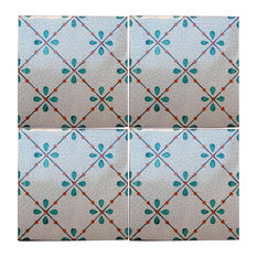 Repro Dots Majolica Tiles, Set of 4