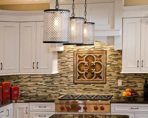 A Tin and Subway Tile Backsplash - Tile - Tin Backsplash - Kitchen Backsplashes