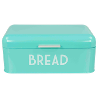 Home Basics  Metal Bread Box with Lid, Blue