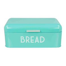 HDS TRADING CORP - Home Basics  Metal Bread Box with Lid, Blue - Bread Boxes