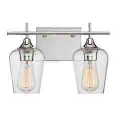 Savoy House Octave 2-Light Bathroom Vanity Light in Polished Chrome