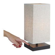"""Revel/Kira Home Lucerna 13"""" Modern TOUCH Bedside LED Table Lamp + 4W Bulb"""