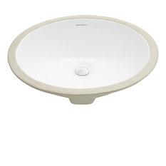 """Monaco 18"""" Oval Under-Mount Bathroom Sink"""