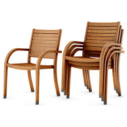 Transitional Outdoor Dining Chairs by Amazonia