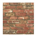 West End Red Brick Peel and Stick Wallpaper Bolt