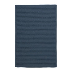 Colonial Mills, Inc - Simply Home Solid H041 Lake Blue Indoor/Outdoor Area Rug, Rectangular 7'x9' - Outdoor Rugs