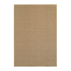 "Santa Rosa Brown Sand Solid Lattice Transitional Rug, 3'3""x5'"