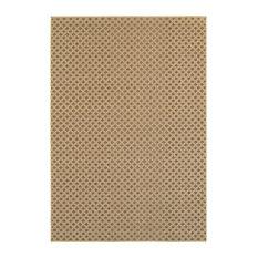 "Oriental Weavers Santa Rosa 5991D Brown/Sand Solid Area Rug, 3'3""x5'"