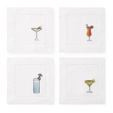 """Bevande Cocktail Napkins by Sferra, Set of 4 - 6x6"""""""