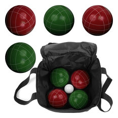 9 Piece Full-Size Bocce Set with Easy-Carry Nylon Case by Trademark Games