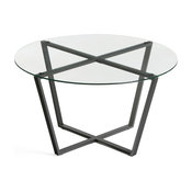 Mango Steam Metro Coffee and End Table, Clear, Coffee Table