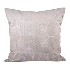 Elk Piazza 24X24 Pillow, Cover Only 903113, Crema, Dove