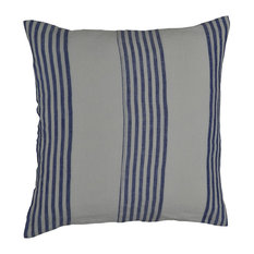 Vertical Ticking Linen Decorative Thin Pin French Striped Square Pillow Covers,