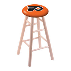 Maple Counter Stool Natural Finish With Philadelphia Flyers Seat 24-inch