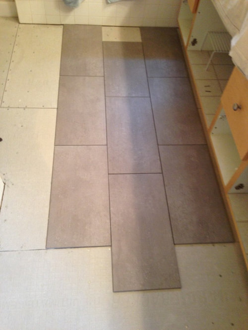 Tile Pattern Layout For X Tiled - 12x18 floor tile
