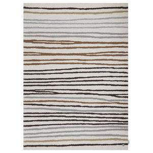 Tom Tailor Easy Stripes Rug, Cream and Grey, 160x230 cm