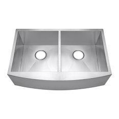 "Golden Vantage 33""x22""x9"" Apron Under Mount Dual Basin 50/50 Kitchen Sink"