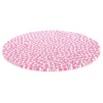 """Happy as Larry - Happy as Larry Marshmallow Felt Ball Rug, Pink, 3'4"""" - Bring imagination home, to your little girls room, with the Marshmallow rug. Each ball is hand felted and lovingly stitched together, not glued. They feel lovely underfoot and can be used on both sides. Children spend most of the time on the floor. It's where they play, imagine and see the world.  Snuggle up with a book, set up the blocks and together create a lifetime of memories."""