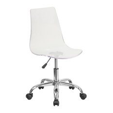 Flash Furniture - Booker Acrylic Task Chair With Chrome Base, Clear - Office  Chairs