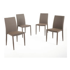 GDFStudio   Oliver Fabric Tweed Stacking Chairs, Set Of 4   Dining Chairs
