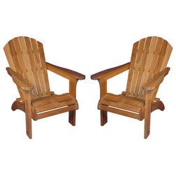 Traditional Adirondack Chairs by Goldenteak Teak Patio Furniture