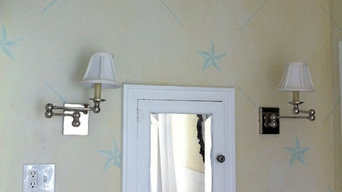 Bathroom star stencil