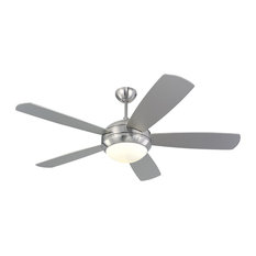 "Monte Carlo Fan Company 52"" Discus Fan, Brushed Steel"
