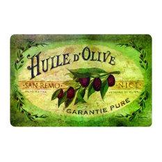"""Vintage Olive Oil Mat, 18""""x30"""""""