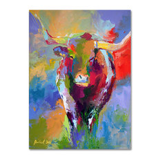 'Longhorn' Canvas Art by Richard Wallich
