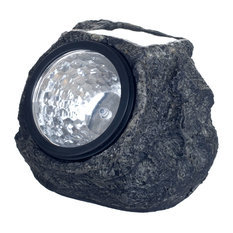 Solar LED Rock Landscaping Lights, Set of 4 by Pure Garden