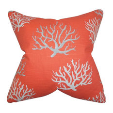 "The Pillow Collection 18"" Square Hafwen Coastal Throw Pillow"