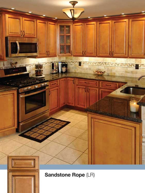 Sandstone rope kitchen for Kitchen cabinets king