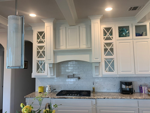 My White Kitchen Cabinets Above The Range Are Starting To Yellow