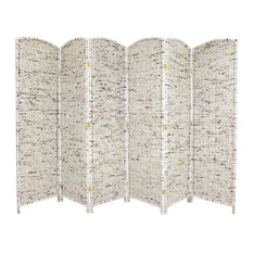 6' Tall Recycled Newspaper Room Divider, 6 Panels