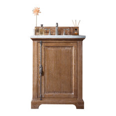 "Providence 26"" Driftwood Single Vanity w/ 2cm Black Rustic Granite Top"