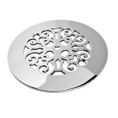 designer drains classic scrolls no 4 shower drain polished stainless steel tub